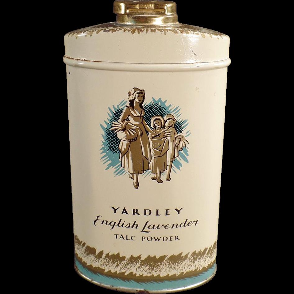Vintage Talc Tin - Yardley of London English Lavender Talc Tin