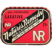 Vintage Nature's Remedy Laxative Tin - Small 25c Size