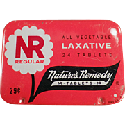 Vintage Laxative Tin - Nature's Remedy - NR Regular