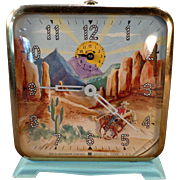 Vintage Roy Rogers Wind Up Alarm Clock – See it Working on Facebook