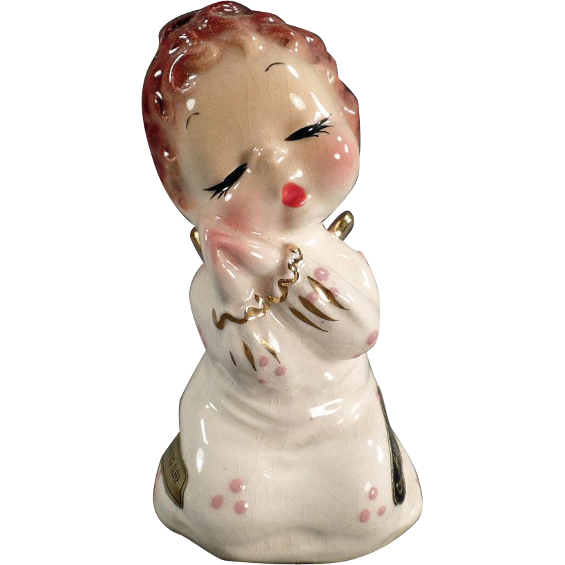 Vintage California Josef Original - Angel Figurine - Down to Sleep