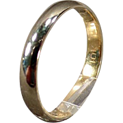 Vintage 10k Yellow Gold Baby's Ring - 10K Gold Band