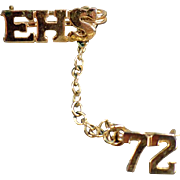 Estate Jewelry - 1972  High School Pin - EHS