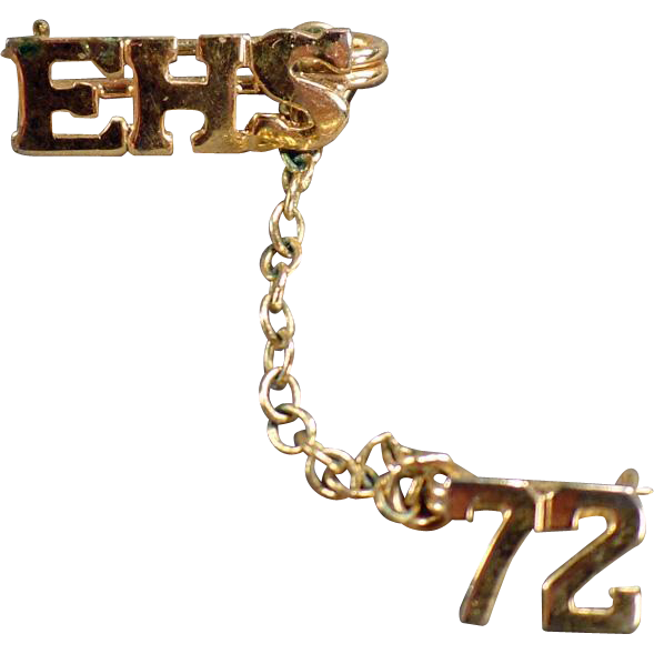 Estate Jewelry - 1972  High School Pin - EHS