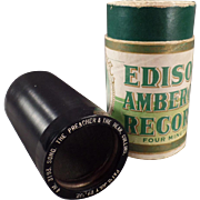 Vintage Edison Cylinder Phonograph Record – Preacher and the Bear - 4 Minute Amberol