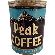 Vintage Coffee Tin - Peak Coffee - Independent Grocers Alliance