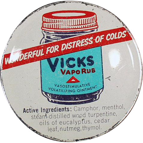 Vintage Vicks Vaporub Tin with Nice Graphics
