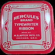Vintage Typewriter Ribbon Tin - Hercules - M.S. Apter