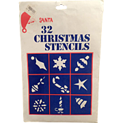 Vintage Christmas Window Stencils – Unused -  30 Designs
