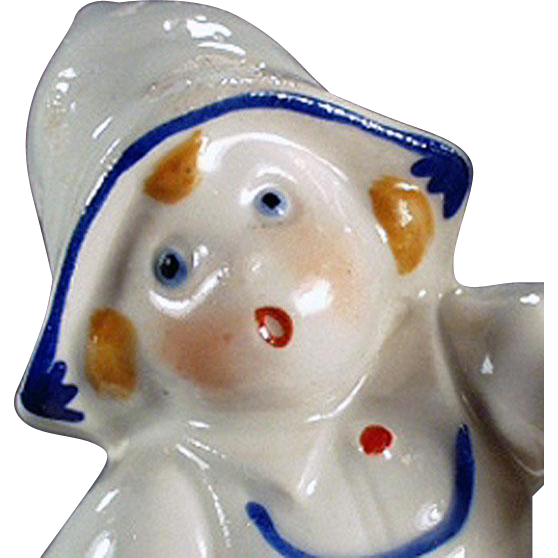 Vintage Porcelain Egg Timer - Little Dutch Girl - German