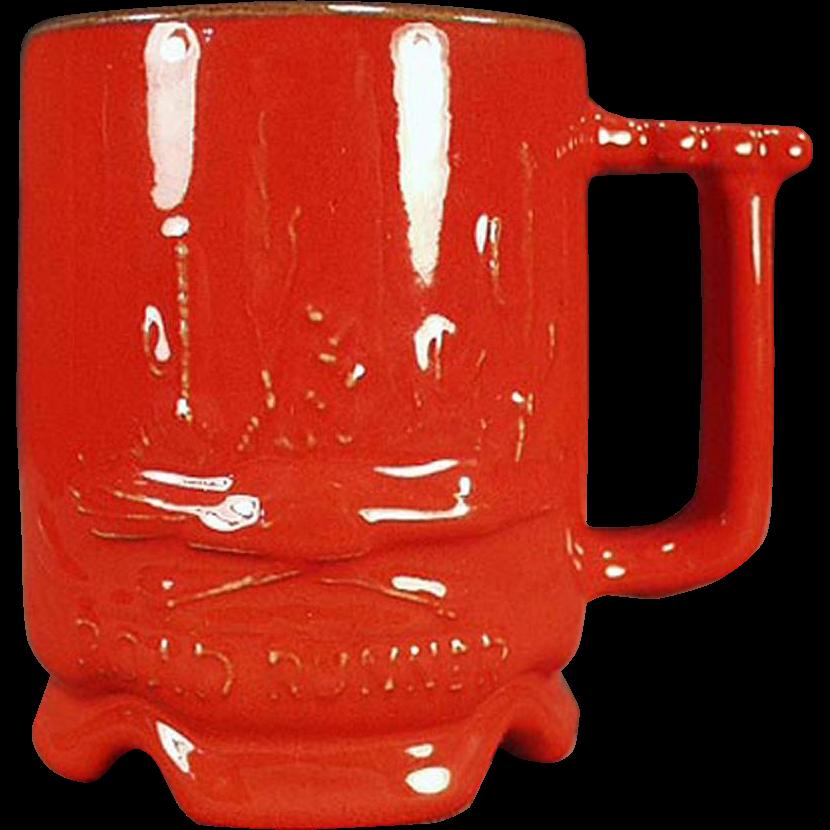 Vintage Frankoma - Road Runner Mug in Flame Glaze
