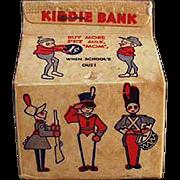 Vintage Advertising Bank - Pet Milk Carton with Brownies