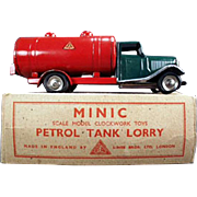 Vintage Minic - Petrol Tank Lorry - Gas Truck with Original Box