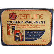 Vintage Cookery Parchment Paper - Kitchen Decorating Item