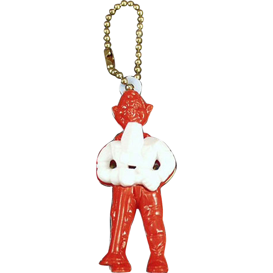 Vintage Puzzle Key Chain - Howdy Doody Figure