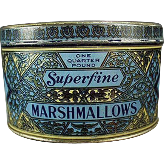 Vintage Marshmallow Tin - Woolco Marshmallows from Woolworth's