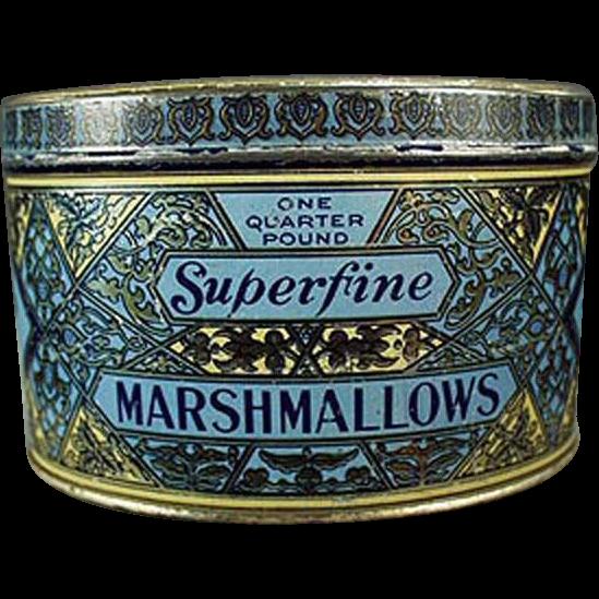 Vintage Marshmallow Tin - Woolco Marshmallows from Woolworth's