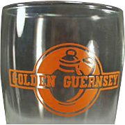 Vintage Advertising Glass - Golden Guernsey