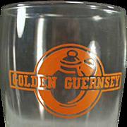 Vintage Advertising Glass - Golden Guernsey