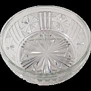 Vintage Pressed Glass Serving Bowl or Salad Bowl