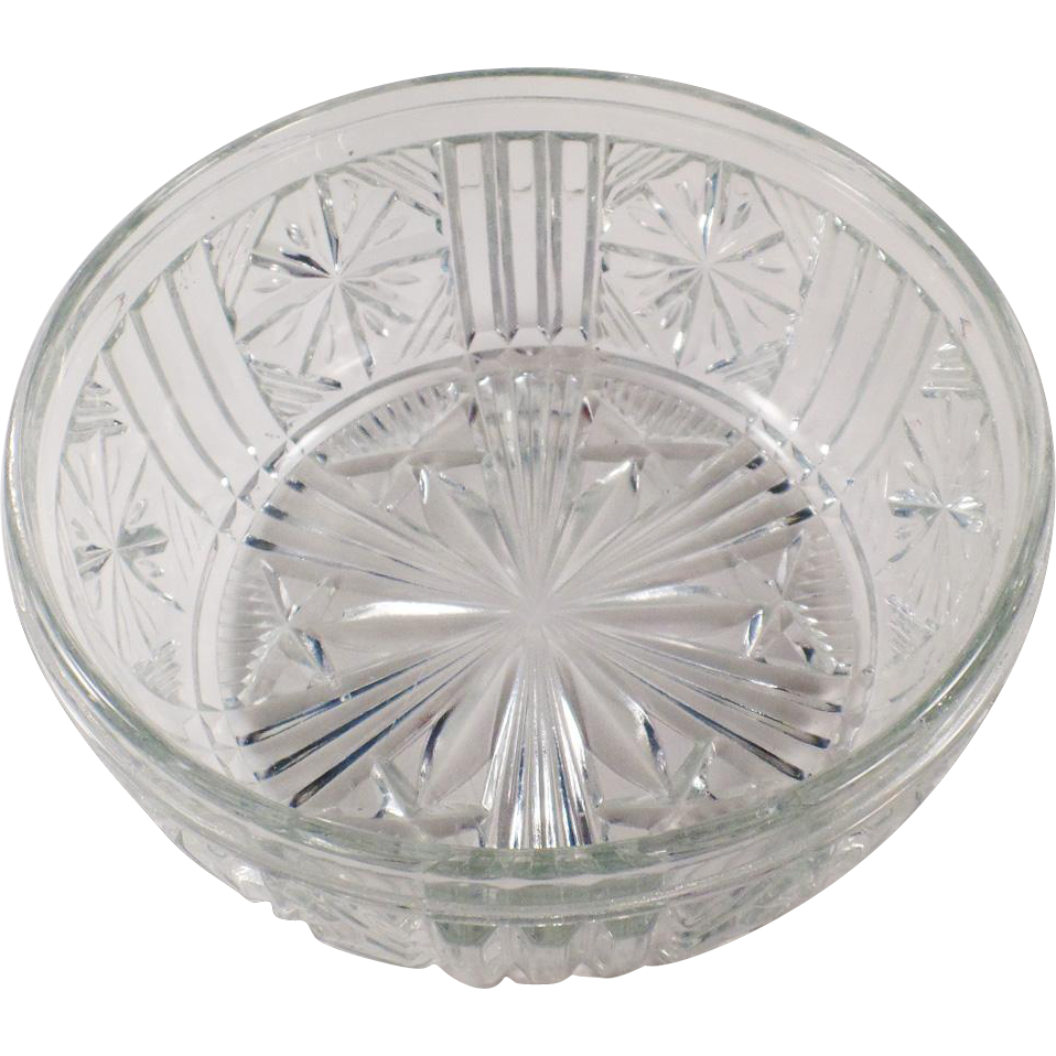 Vintage Pressed Glass Serving Bowl or Salad Bowl