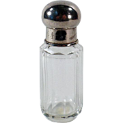 Vintage Perfume Bottle – Clear Crystal with Screw on Cap