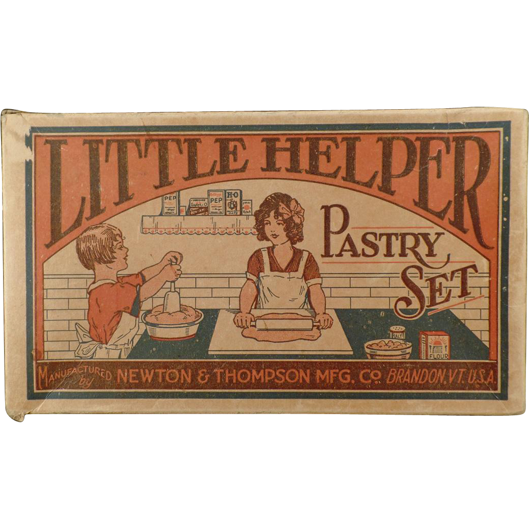 Vintage Little Helper Pastry Set - Toy Box Only - 1930's