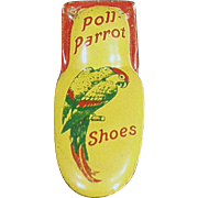 Vintage Tin Clicker Toy - Poll Parrot Shoes Advertising