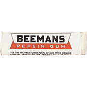 Stick of Vintage Chewing Gum - Beemans Pepsin - Never Opened