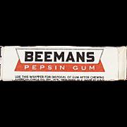 Stick of Vintage Chewing Gum - Beemans Pepsin - Never Opened