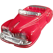 Vintage Auburn Rubber Car - Red Lincoln Convertible - Very Nice Condition