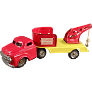 Vintage Tin Toy Wrecker Truck - Towing Service - Japanese Tin