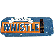 Vintage Tin Advertising Whistle - Golden Orange Refreshment Whistle Soda Advertising