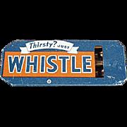 Vintage Tin Advertising Whistle - Golden Orange Refreshment Whistle Soda Advertising
