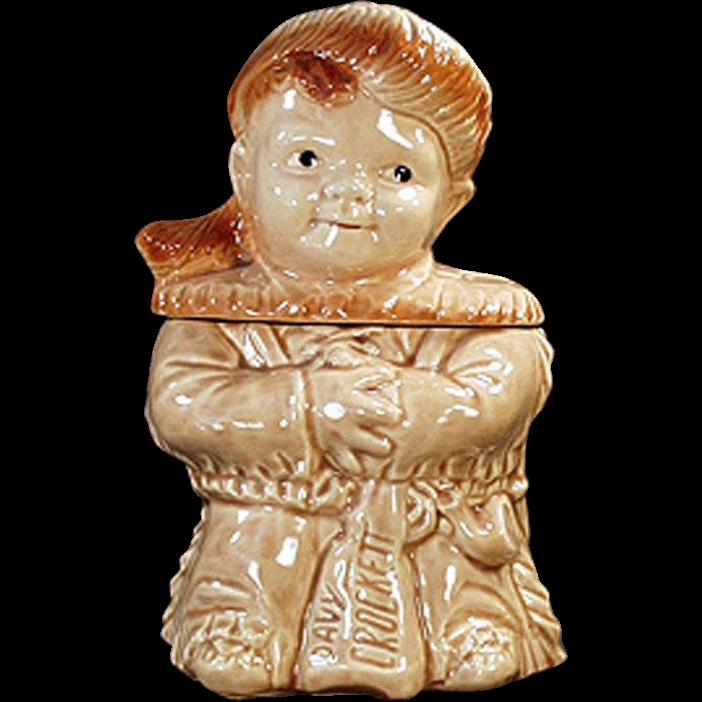 Vintage Davy Crockett Cookie Jar - Brush Pottery