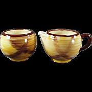 Vintage Vernon Kilns Cream & Sugar Set - Organdie Pattern