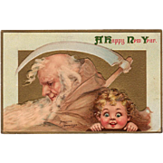 Vintage New Year Postcard by Frances Brundage – Panama-Pacific Expo 1915