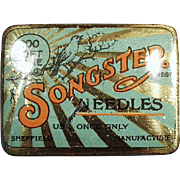 Vintage Phonograph Needle Tin - Songster