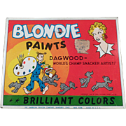 Vintage Blondie & Dagwood Water Color Paint Set Tin
