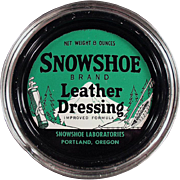 Vintage Tin - Snowshoe Leather Dressing from Portland, Oregon