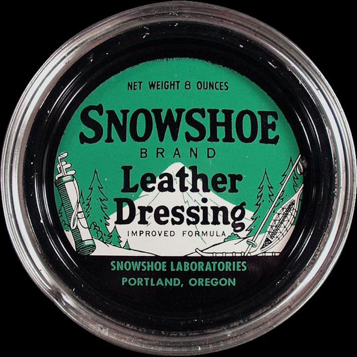 Vintage Tin - Snowshoe Leather Dressing from Portland, Oregon
