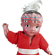 Vintage Celluloid Doll - Indian Brave Doll