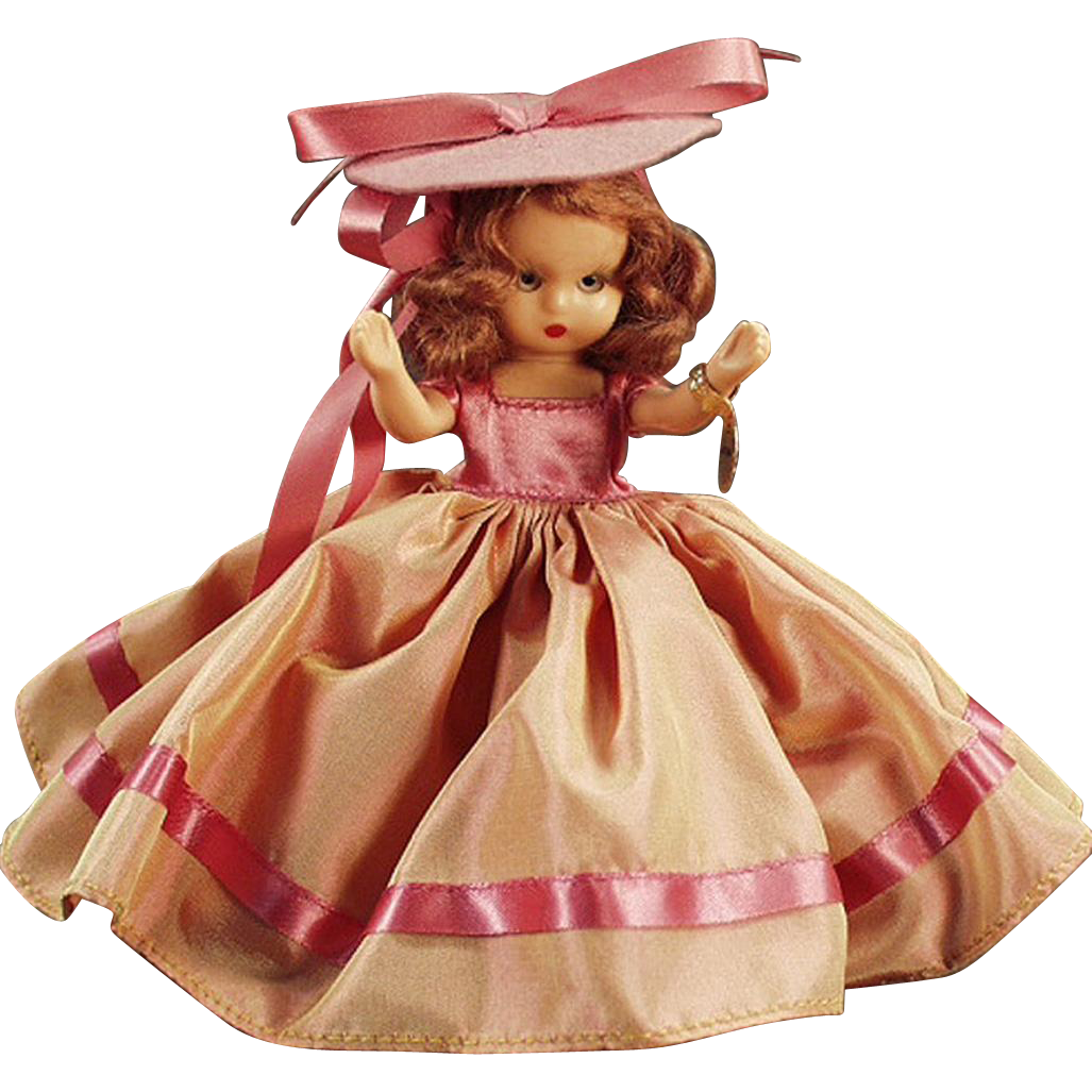 Vintage Nancy Ann Storybook Doll - #92 Autumn with Original Box - 1954 Christmas Gift
