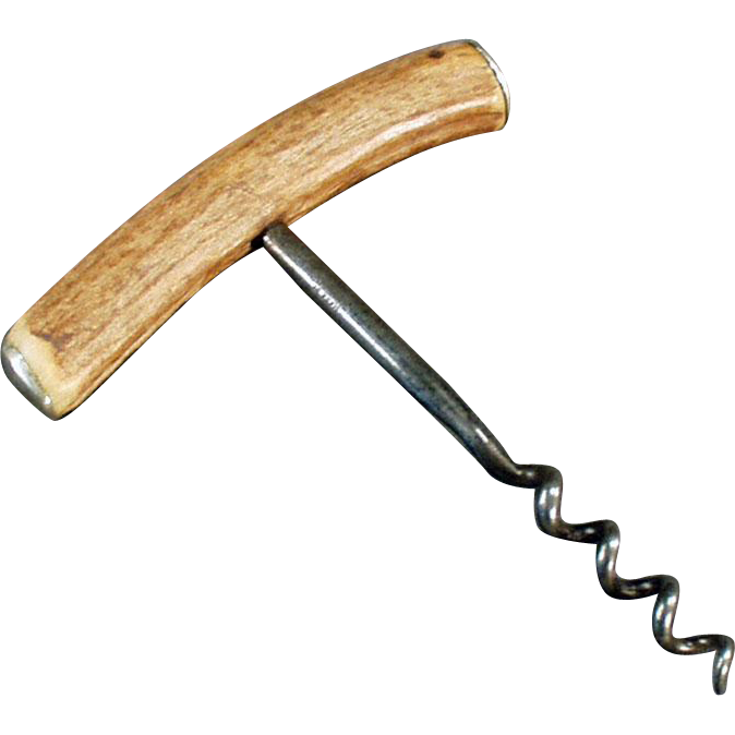 Vintage Stag Horn Handle Corkscrew - Viners of Sheffield, England