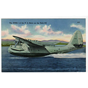 Vintage Postcard with a XPBS-1 Naval Airplane