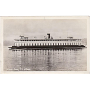 Vintage Photograph Postcard - Ferry M.S. Willapa - Seattle, Washington