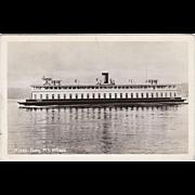 Vintage Photograph Postcard - Ferry M.S. Willapa - Seattle, Washington