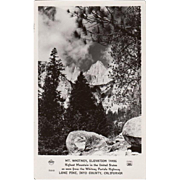 Vintage Photograph Postcard - Mt Whitney California