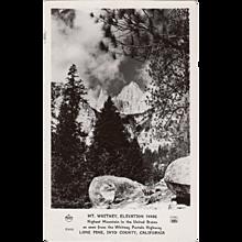 Vintage Photograph Postcard - Mt Whitney California