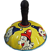 Vintage Toy Noise Maker - Colorful with Clown Faces